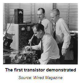 The First Transistor Demonstrated